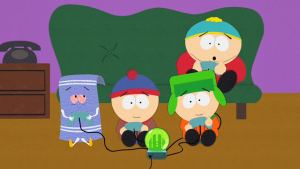 Towelie high on game